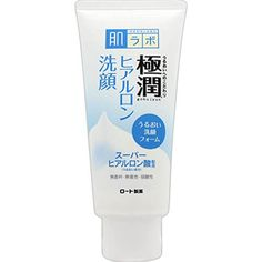 ROHTO Hadalabo Gokujun Hyaluronic Cleansing Foam contains both super hyaluronic acid and another quick absorbing type of hyaluronic acid as active ingredients. The rich foam effortlessly lifts away dead skin cells and grime, while simultaneously providing moisture to the skin almost as if you packed!   Fragrance, coloring free. Does not contain mineral oil or alcohol. Best Japanese Skincare, Japanese Taste, Cocamide Dea, Anti Ride, Facial Wash, Exfoliant, Facial Cleanser, Hyaluronic Acid, Alcohol