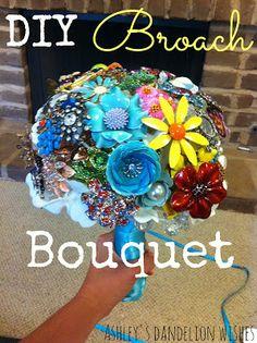 Ashley's Dandelion Wishes: DIY Broach Bouquet