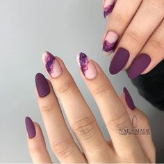 Mauve color nails are something unbelievably trendy in the world of modern nail art What is more, the shade itself is anything but ordinary, and that simply makes you try it out! All the best mauve colored nail art designs gathered in one place ju - # Elegant Nail Designs, Elegant Nails, Stylish Nails, Trendy Nails, Simple Nail Design, Dark Nail Designs, Easy Designs, Creative Nail Designs, Hair And Nails