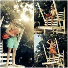 There was an unattended lifeguard stand so we had to do this