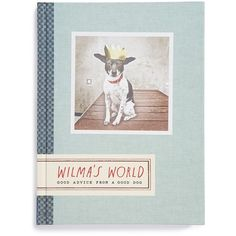 'Wilma's World: Good Advice from a Good Dog' Book ($7.96) ❤ liked on Polyvore featuring home, home decor, stationery, fillers, books and blue