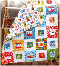 Dr Seuss Baby Quilt Free US Shipping. $140.00, via Etsy.