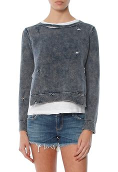 Get the Generation Love Benji Double Layer Sweater With Holes, the latest designer fashions, denim and celebrity style at SINGER22.com, Free Shipping + Returns Made Easy!