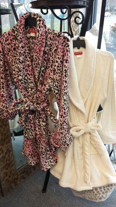 Fun and fuzzy robes from Bed & Bath Affair make a wonderful gift for all the women on your list! www.facebook.com/bedandbathaffair