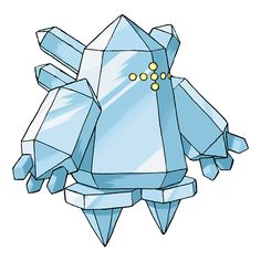 Regice - 378 - It is said to have slept in a glacier for thousands of years. Its body can't be melted, even by magma.  Its body is made of ice from the ice age. It controls frigid air of -328 degrees Fahrenheit.