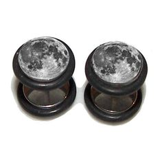Full Moon FAKE Plugs Post Earrings - 1 Pair - Made to Order (€18) ❤ liked on Polyvore featuring jewelry, earrings, accessories, piercings, plugs, post earrings, artificial jewellery, fake jewelry, imitation jewelry and artificial jewelry