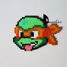 TMNT Michelangelo hama perler beads by duastin_toyland
