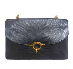 f555fd853f84 View this item and discover similar handbags and purses for sale at -  Hermes Black Lizard 'Piano' Bag With Gold Braided Hardware Age: 1982 Made  In France ...