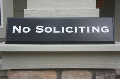 No soliciting sign plaque  with routed finished by Frameyourstory, $24.95