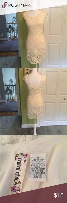 Crochet Dress Never Worn Lined dress Mimi Chica Dresses Mini