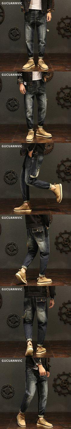 ffc0da76d55 Fashion Leisure new Men Harlan pants trend Wild Men jeans Loose Slim stretch  jeans baggy hip