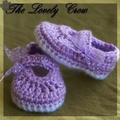 PDF Crochet Pattern for Baby Ribbon MaryJane Booties -  4 sizes - Newborn to 12 months.. $5.50, via Etsy.