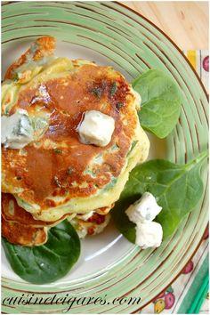 Pancakes Epinards et Gorgonzola Duo 10