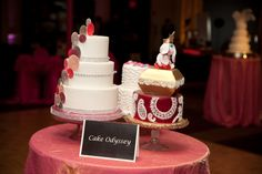 Fabulous Wedding Cakes by A Cake Odyssey; included in full wedding packages @ Sheraton Uptown. Photo credit to: Bryan's Photography. #venues, #weddingcakes, #receptions, #ballrooms