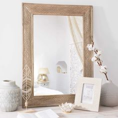 Miroir effet gravé 56x75cm WAHALA
