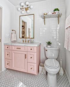 pink bathroom 60 Gorgeous Bathroom Countertops Ideas That Make Your Bathroom Look Elegant - Millions Grace Bad Inspiration, Decoration Inspiration, Bathroom Inspiration, Decor Ideas, Decorating Ideas, 31 Ideas, Pink Vanity, Vanity Sink, Vanity Cabinet