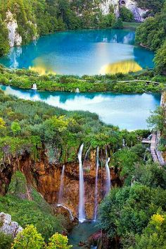 The National Park of Croatia. Plitvice Lakes.