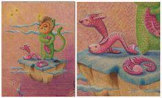 Isla2 Painting, Art, January, Islands, Summer Time, Wood, Illustrations, Colors, Painting Art
