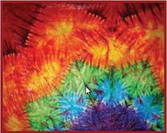 Basic Mandala Tie-Dye folding technique