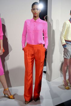 Supporting Pantone Colors: Tangerine Tango and Cabaret; NY Fashion Week designs for Spring 2012 by J. Crew