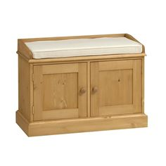 Dorchester Pine Double Storage Bench (S901) with Free Delivery | The Cotswold Company