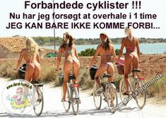 Forbandede cyklister.