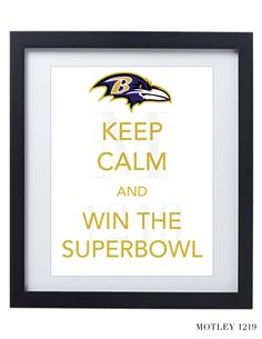 Baltimore Ravens  Keep Calm and Beat the Niners Superbowl Printable Digital Poster. $4.99, via Etsy.