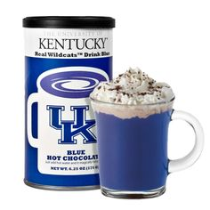 UK Hot Chocolate - really is blue. perfect for chilly fall game days