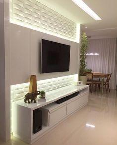 Living Room Tv Unit Designs, Ceiling Design Living Room, Tv Wall Design, Modern Tv Wall Units, Small Apartment Interior, Tv Wall Decor, Luxury Sofa, Small Apartments, Interior Design