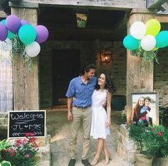 John Luke Robertson and Mary Kate McEacharn at pre-wedding festivities. (Instagram)