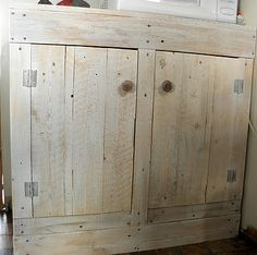 Cabinets Built From Pallet Wood | Pallet Cabinet by Shabby Love
