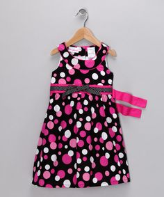 Very different - Black & Pink Yoke Dress - Infant & Girls by Shades of Summer Collection on #zulily today!  #zulily  #fall
