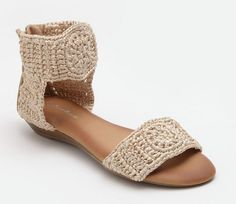 Crochet sandals, I actually bought these.