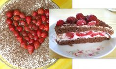 Tvarohovo-jahodová fit torta Stevia, Tiramisu, Cheesecake, Strawberry, Fruit, Fitness, Desserts, Sneh, Food