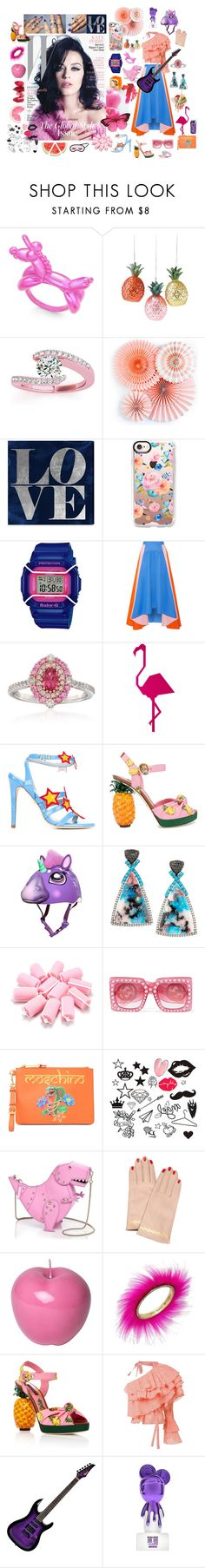"""""""Katy Perry - Fun electric"""" by sarahhughes-net on Polyvore featuring Kate Spade, Allurez, Gipsy, Oliver Gal Artist Co., Casetify, Baby-G, Peter Pilotto, Gregg Ruth, Chiara Ferragni and Dolce&Gabbana"""