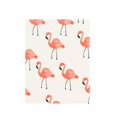 Flamingos (Ivory) Screen Printed Cotton Lawn Fabric  - Rifle Paper Co