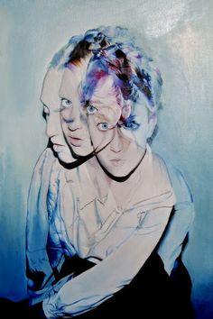 accismus by menteurmenteur oil on canvas. Surrealism Painting, Artist Painting, Australian Painters, Poses, Double Exposure, Watercolor Illustration, Female Art, Female Head, Collage Art