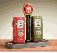 Route 66 Gas Station Salt & Pepper Shakers