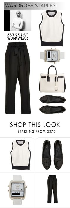 """""""Summer Wardrobe Staples: Workwear"""" by junglover ❤ liked on Polyvore featuring Reed Krakoff, Alexander McQueen, Martian, Salvatore Ferragamo, Sea, New York and Yves Saint Laurent"""