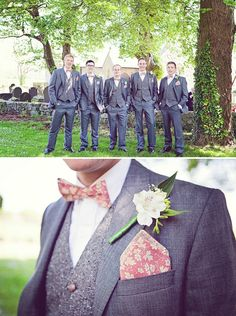 Fun tie pattern. groom bow tie, image by Sarah Janes Photography