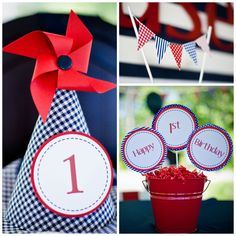 This preppy Nautical 1st Birthday Party will blow your guests right out of the water!