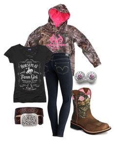 """""""Casual"""" by backwoods-barbie14 ❤ liked on Polyvore featuring Realtree, Levi's, Ariat and Horseplay"""