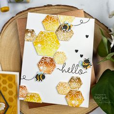 Hexagon Cards, Hello Design, Acetate Cards, Hero Arts Cards, Bee Cards, Love Stamps, Animal Cards, Ink Pads, Card Kit