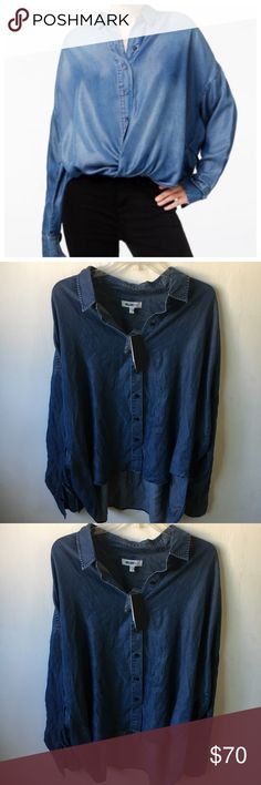 William Rast Size XL Denim Top Shirt William Rast Size XL Denim Top Shirt , brand new with tags. Retail $90. Can be worn multiple ways. High low fit. William Rast Tops