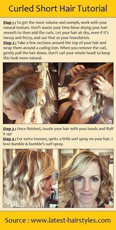 Curled Short Hair Tutorial | beauty tutorials
