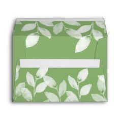 Greenery Leaves Botanical Wedding Envelope envelopes custom unique diy cyo personalize idea envelope