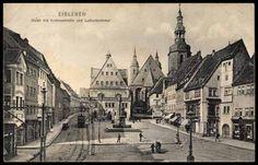 Ansichtskarte / Postkarte Lutherstadt Eisleben, Markt mit Andreaskirche, 1911 | akpool.de