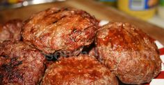 Burgers stuffed with Pepper Jack cheese and flavored with an all purpose sauce like Country Bob's.