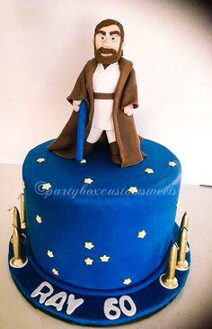 Star Wars cake. Handmade Obe Wan Kenobe.