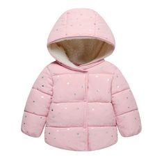 89b35739d81c Infants Baby Girl Hooded Printed Princess Jacket Coat